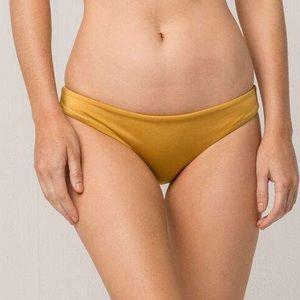 NWT RVCA Solid Shimmer Cheeky Bikini Bottoms L